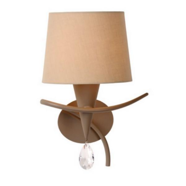 lucide c applique abat jour condor taupe. Black Bedroom Furniture Sets. Home Design Ideas