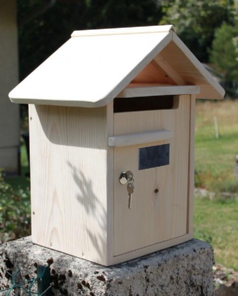 Boite Aux Lettres En Bois En Kit : BOITE AUX LETTRES BOIS CREASTUCE : CONDAMINE 1 PORTE